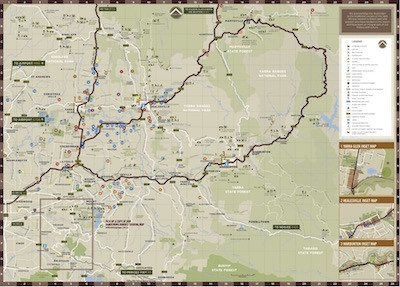 Yarra Valley Touring Map